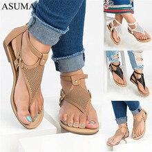 купить 2019 Brand Flat Beach Sandals Women Sandals Ladies Slippers Bohemian Sandles Female Flip Flops Summer Shoes Woman sandales femme по цене 1073.1 рублей