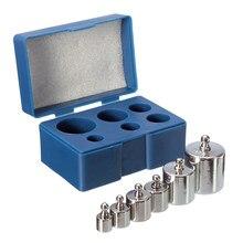 Juego de calibración de precisión, báscula de peso Digital, 6 uds., 100g, 50g, 2x20g, 10g, 5g