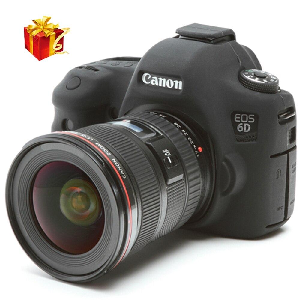 La haute qualité en caoutchouc de Silicone souple caméra de protection de la peau du corps pour Canon 6D DSLR caméra sac housse de protection