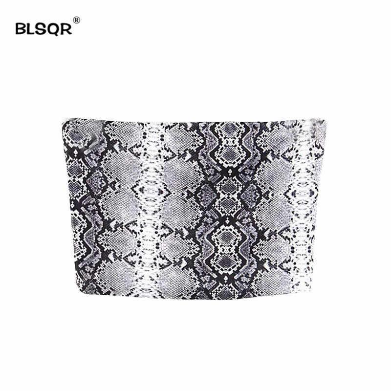 48307749186 Snake Skin Tops Cool Strapless Camis Women Crop Top Fashion 2018 Streetwear  Basic Tank Top Off