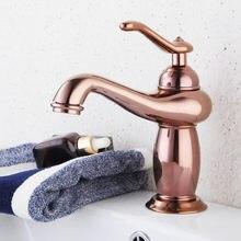 Роскошный розовое золото кран для раковины ванной комнаты с