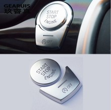 Car styling ENGINE START STOP switch button Covers Stickers for BMW 5/6/7 series f10 GT F07 F chassis cars auto Accessories