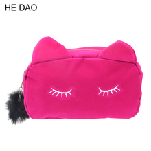 Cartoon Kawaii Pencil Case Cute Cat Plush Big Large Pencil Bag For Girls Kids Children Office School Supplie Stationery