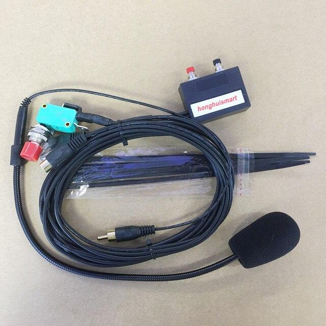 honghuismart Hand free microphone speaker 8pins for IC 2200H,IC 2720,IC 2820 ,IC V8000 etc car vehicle radio ham