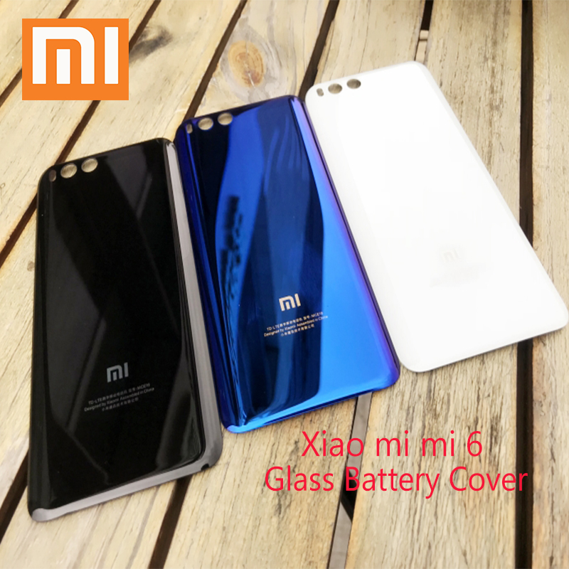 XIAOMI Replacement Battery-Cover-Case Sticker Back Mi6 Rear-Door-Cover For