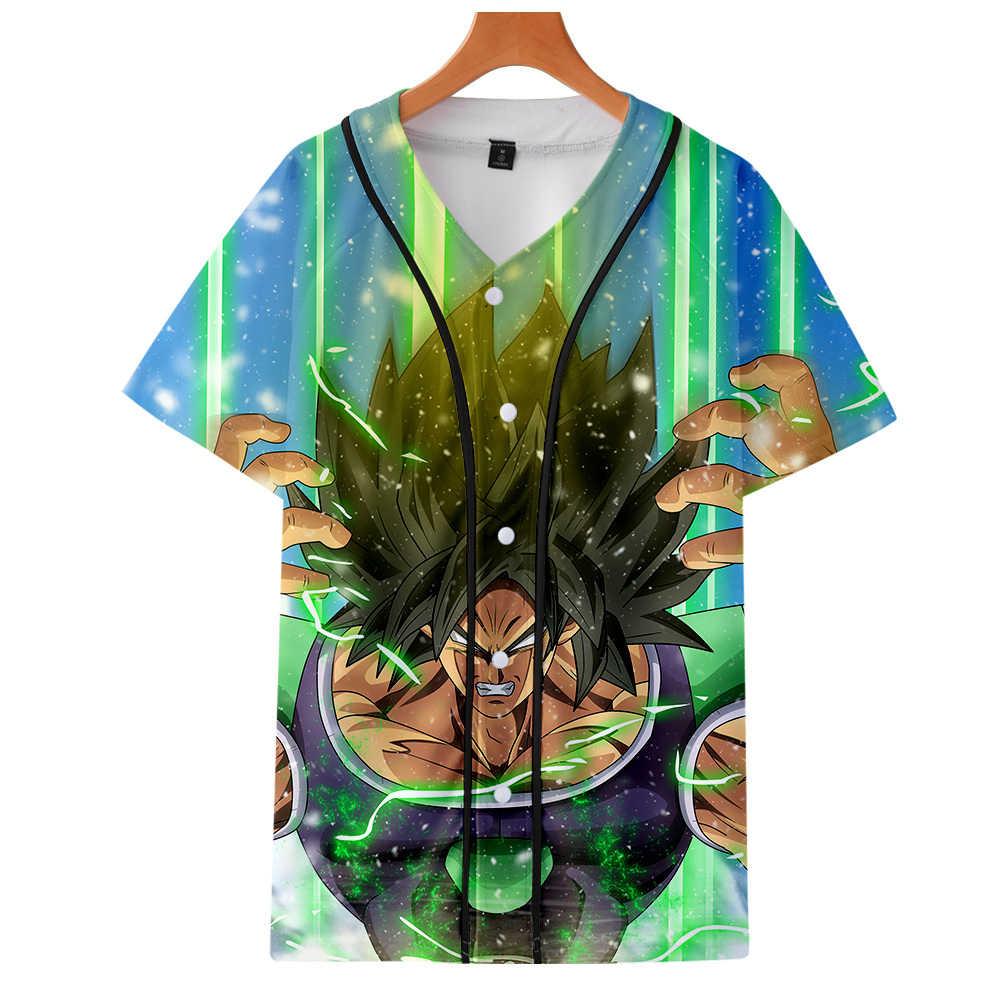 Роман аниме пульт для приставок 3D футболка для мужчин женщин с v-образным вырезом Футболка Goku Harajuku летние шорты Majin Буу одежда унисекс