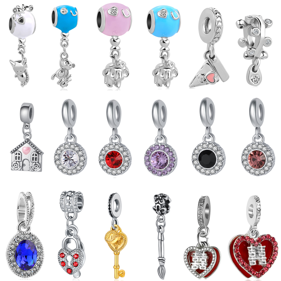 2PCSTop  Safety Chain Bead Charm Alloy Silver Chain Bead Fit Bracelet Jewelry HG