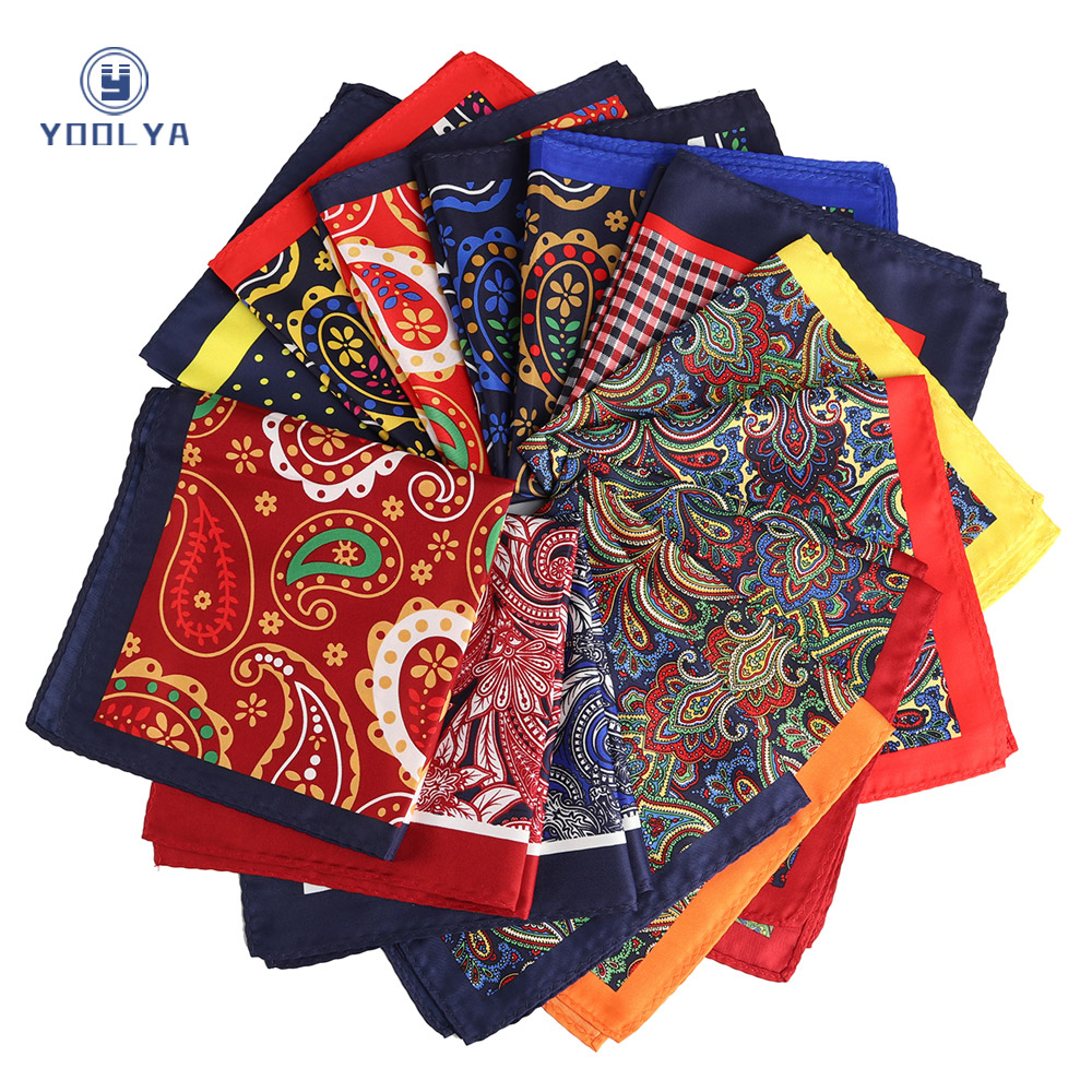 Fashion 33 X 33CM Man Paisley Floral Pocket Square Hankies Chest Towel Big Size Handkerchief For Men's Suit Wedding Party