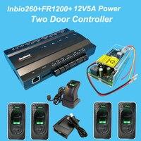 Двухдверная тумба Управление; доступа по отпечаткам пальцев Управление Системы комплект + непрерывное функция батареи Мощность + FR1200 устро