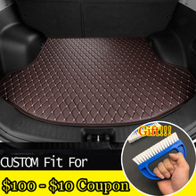 fit car trunk mat for Toyota Camry Corolla RAV4 X Crown Verso FJ Cruiser yaris L 3D car-styling tray carpet cargo liner