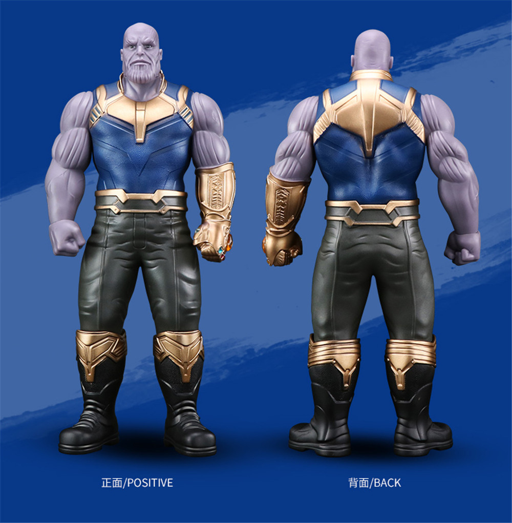 Marvel Movie Avengers Infinity War Thanos Character Figure Model Toys Hands Head Can Move 33cm for kids/adult gift