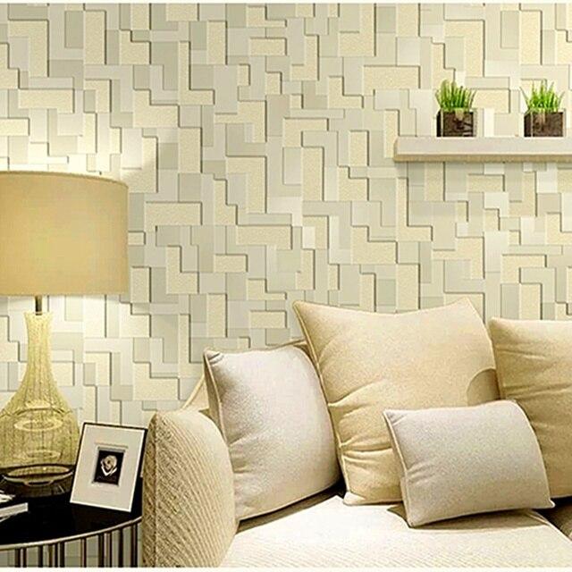 Weisses Licht Gelb Hellgrau Farbe 3D Tapeten Thick Wasserdichten Nachahmung Leder Wohnzimmer Schlafzimmer Wandpapierrolle