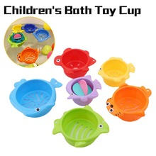 6Pcs/set Baby Float Water Classic Bathing Swimming Educational Toys for Children Plastic Fish Animal Funny Game the Bathroom
