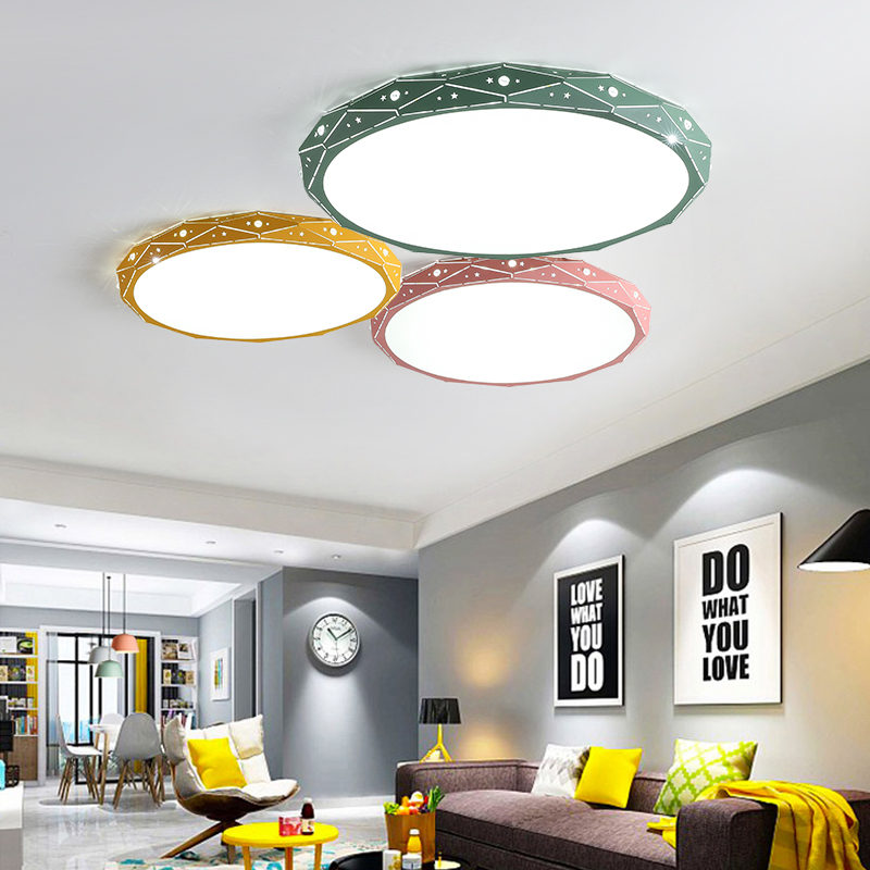 PostModern Ceiling Lights White Black Pink Yellow Green