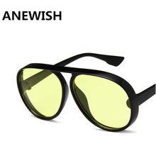 ANEWISH Moda Marca de Luxo Designer de óculos de sol das mulheres preto  transparente oval quadro Do Gato olho Óculos De Sol Ócul. 47e237e545