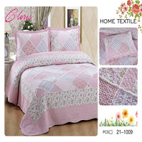 CLORIS Europe High Quality Quilted Bedspread 230*250 With Pillowcases 50 *70 On The Bed Warm Cotton Blanket With Pillowcases