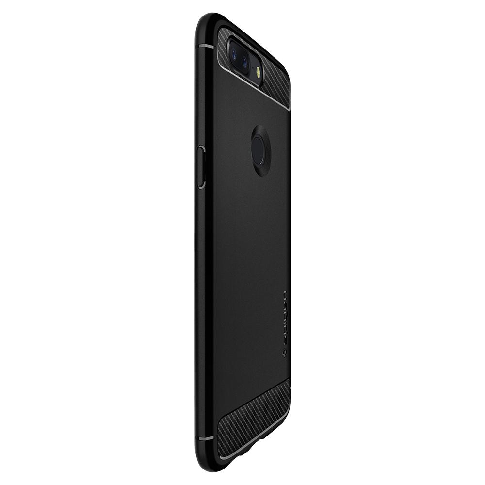 premium selection 0190a c33b7 US $16.99 |100% Original SPIGEN OnePlus 5T Case Rugged Armor Black  K05CS22712-in Fitted Cases from Cellphones & Telecommunications on  Aliexpress.com | ...