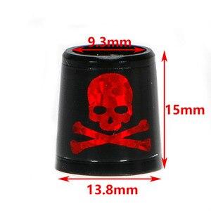 Image 5 - حرّ شحن لعبة غولف الحلقات الحديد و أسافين المواصفات: الداخلية * أعلى * الخارجي حجم 9.3*15*13.8 ملليمتر الأسود مع الأحمر الجمجمة