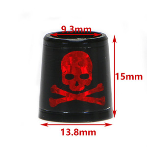 Image 5 - Free shipping GOLF ferrules for irons and wedges spec : inner * higher* outer size 9.3 *15*13.8 mm black with red  Skull
