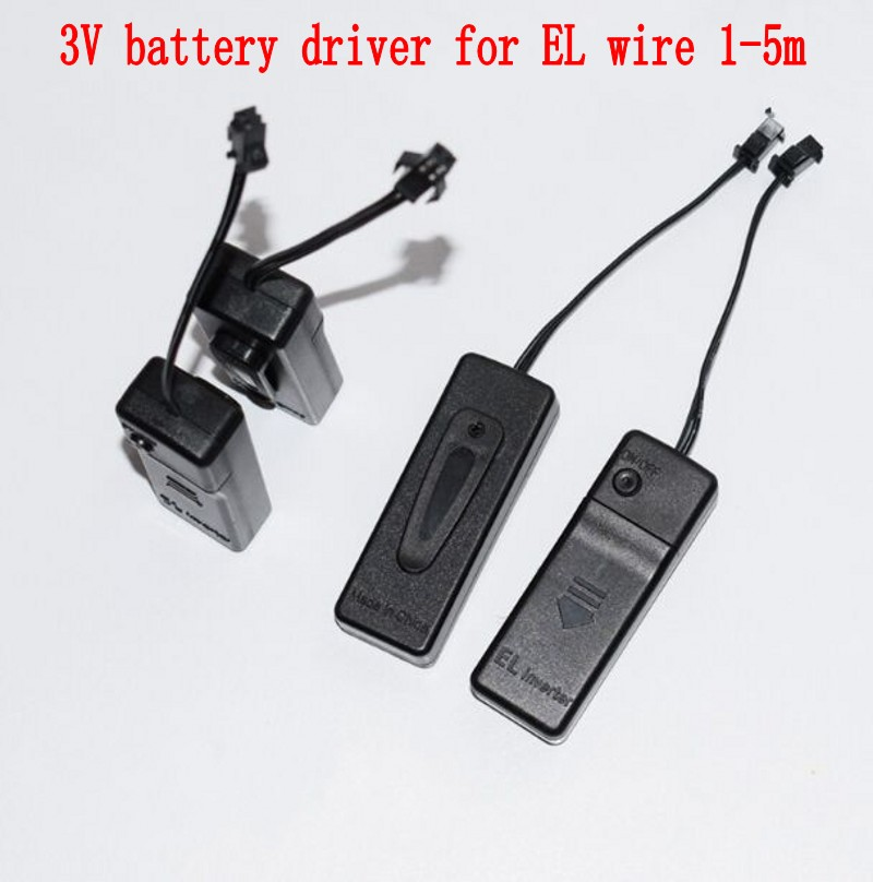 2 AA Battery Case Driver Inverter For Up To 1-5meters Glow EL Wire Led Tape Free Shipping