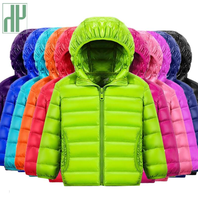 HH 1-14Y Children's down jacket snow wear jacket for girls Infant baby boy outerwear teenage jackets Hooded kids winter coats