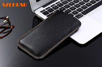 SZLHRSD Genuine Leather Phone Bags For UMi Plus E Cases For UMI Super Slim Pouch Stitch