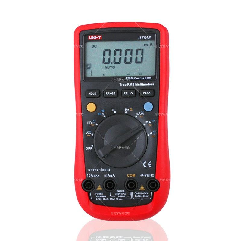 UNI-T UT61E High Reliability Digital Multimeter Modern Digital Multimeters AC DC Meter CD & Data Hold Multitester мультиметр uni t uni t ut71b alicate amperimetro ac dc
