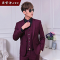 (jacket+pants+vest)Male slim suit suits 3 piece set commercial married fashionable casual set the groom formal dress