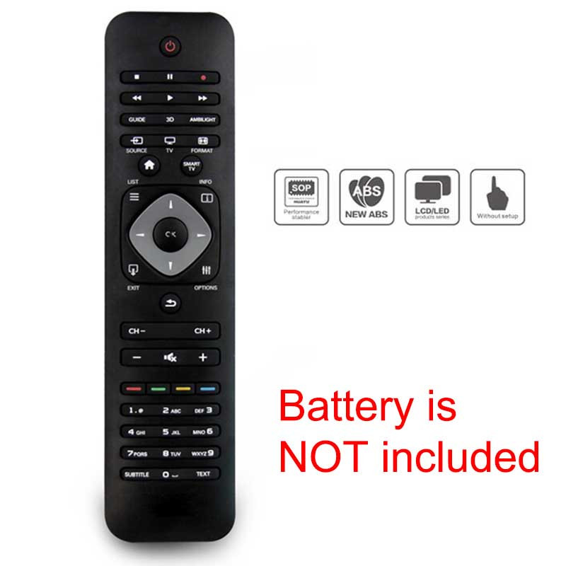 High Quality Replacement TV Remote Control Practical TV Remote Control For Philips RM-L1128 LCD LED Smart HD TV