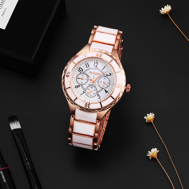 2018 Fashion Women Watches Personality Romantic Rose Gold Wrist Watch Stainless Steel Ladies Clock montre femme reloj mujer 4