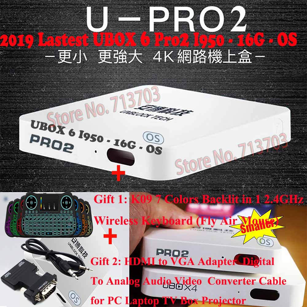 2019 NEW IPTV Unblock UBOX6 UBOX 6 PRO2 I950 16GB Android