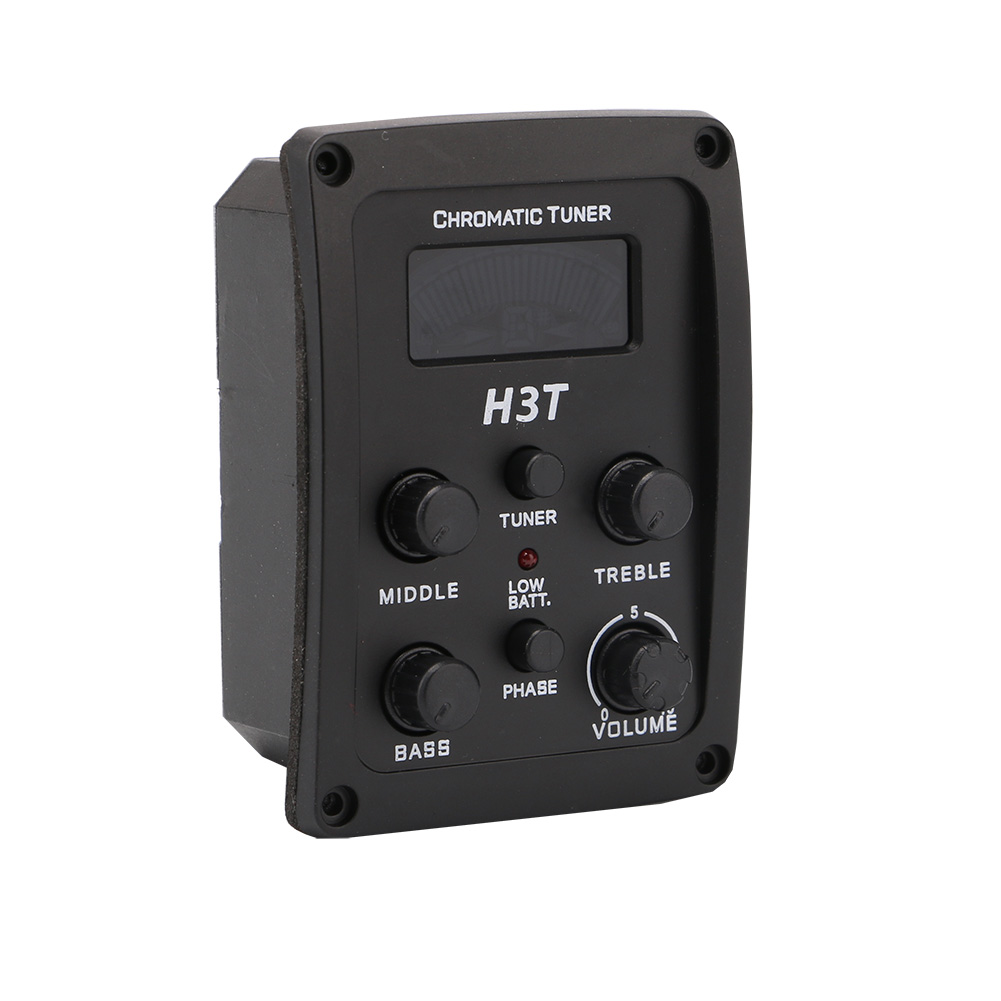 Homeland New Arrival A Set of 3 band EQ And LED Guitar Tuner For Standard Acoustic Guitar Guitarra Accessories Parts ...