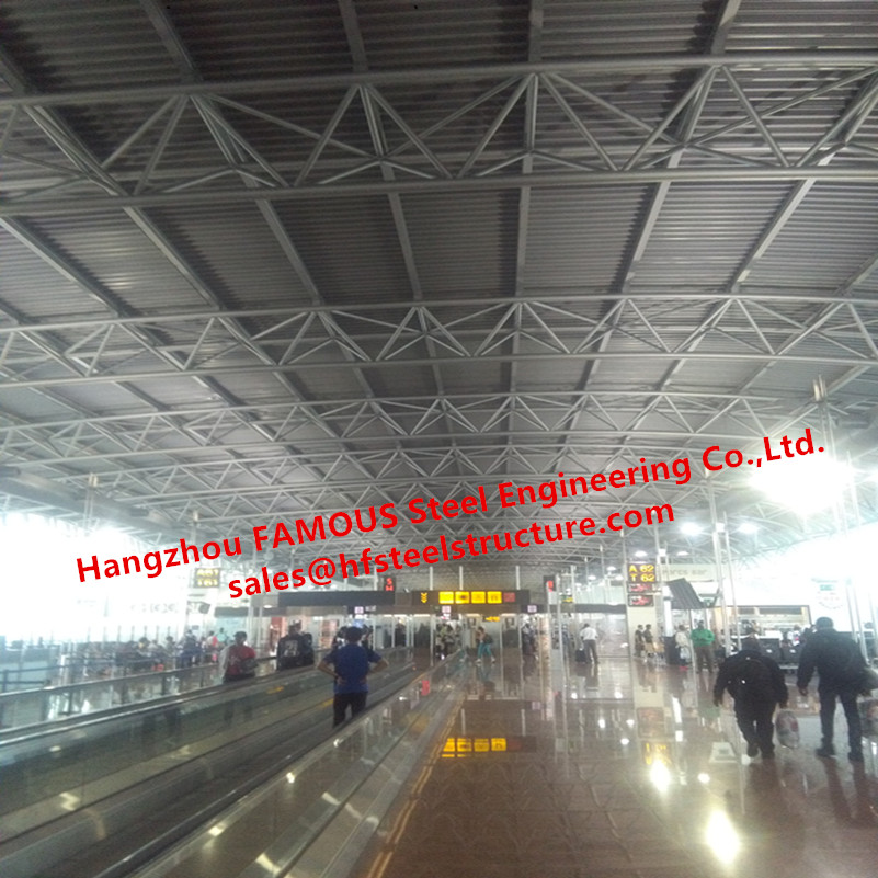Prefabricated Steel Pipe Truss For Terminal Buildings And Boarding Buildings With Galvanized Tubular Structure