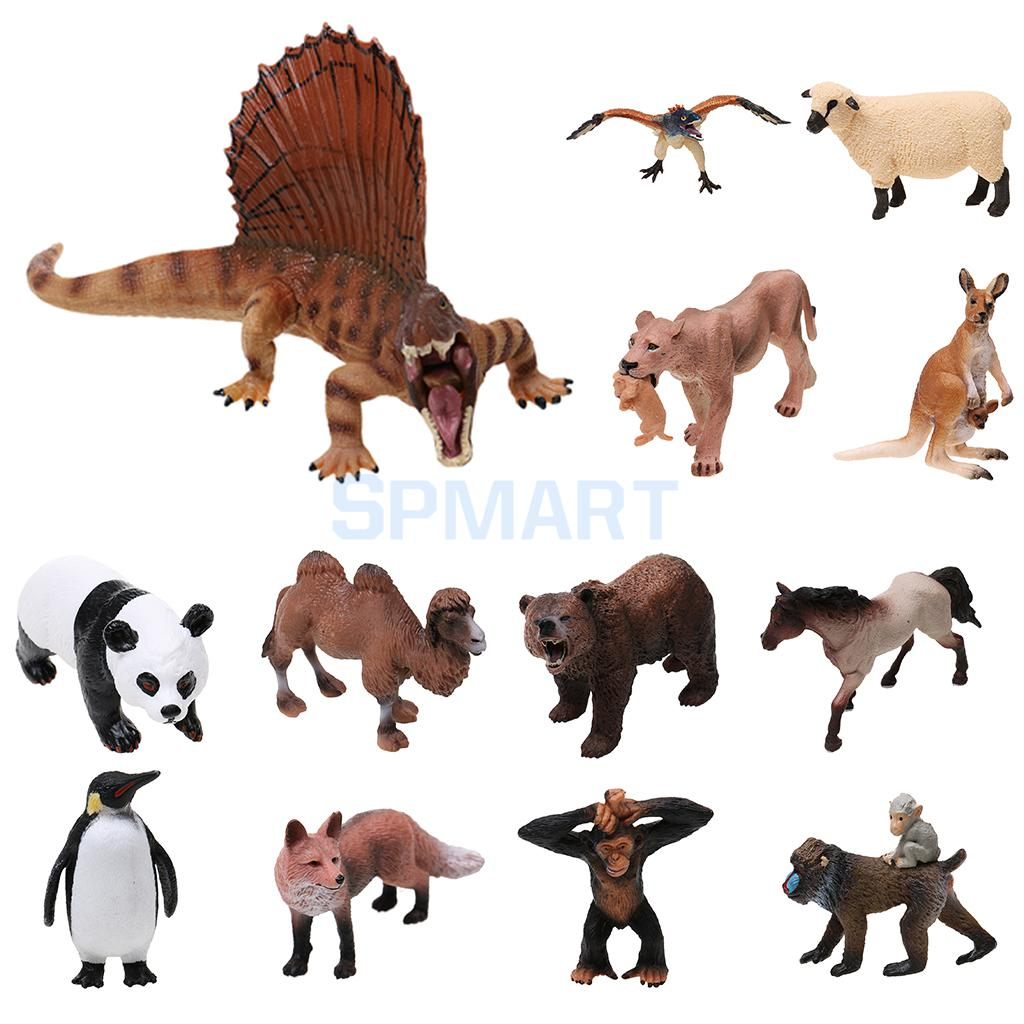 Realistic Wild/Zoo/Farm Animal Model Action Figure Kids Toy Collectibles 40pcs set plastic zoo animal figure tiger panda giraffe kids toy lovely animal action figures toys set decoration gift e