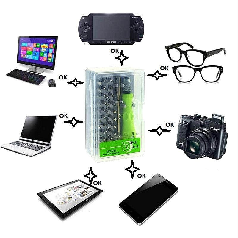 Купить с кэшбэком New 32 In 1 Magnetic Screwdriver Bit Set Precision Mini Hand Tool Kit Mobile Phone Cellphone iPad Camera Fix Repair Maintenance