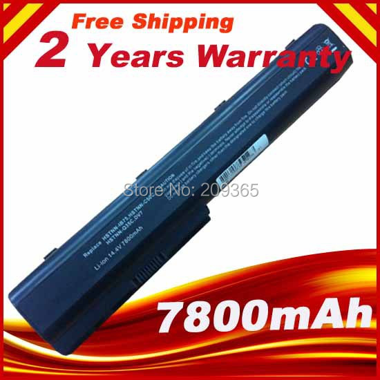 12 CELLS 7800mAh Laptop Battery For HP HP Pavilion DV7 DV7-1000 DV7-3000 DV8 DV8-1000 HP HDX18 Nbp6a95 Nh494aa Hstnn-w50c