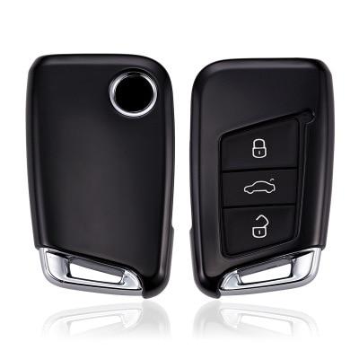 TPU soft Car Key Cover Case Auto Remote Key Cover Shell For Volkswagen VW 2016 2017 Passat B8 Skoda Superb Car Accessories