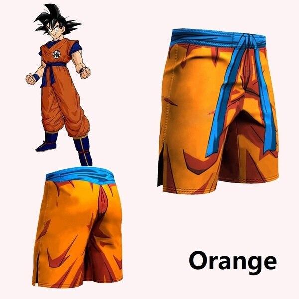 ZOGAA Men's 3D Anime Print Shorts 2020 Brand Goku Cartoon Shorts Men's Sports Fitness Pants Saiyan Vegeta Male Vacation Shorts