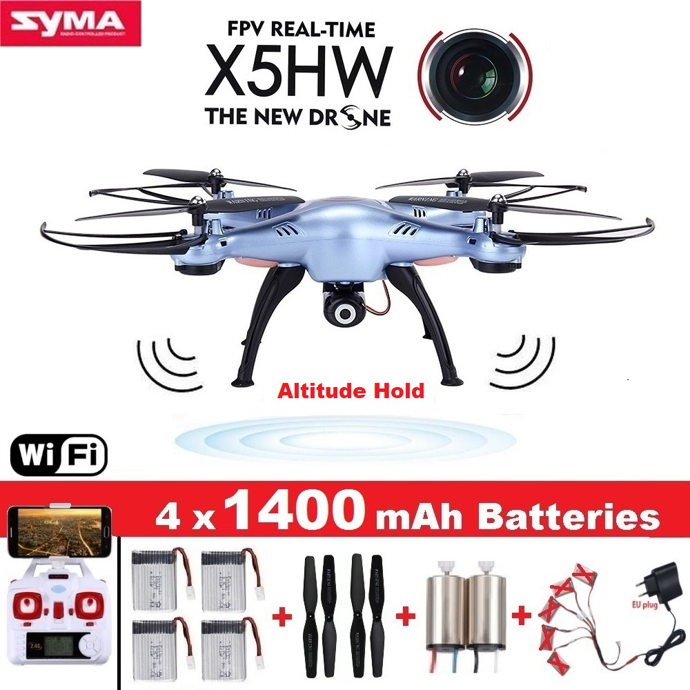 SYMA X5HW RC Drone with Camera Wifi FPV HD Real-time 2.4G CH RC Helicopter Quadcopter RC Dron Toy X5SW Upgrade syma x5hw fpv rc quadcopter drone with