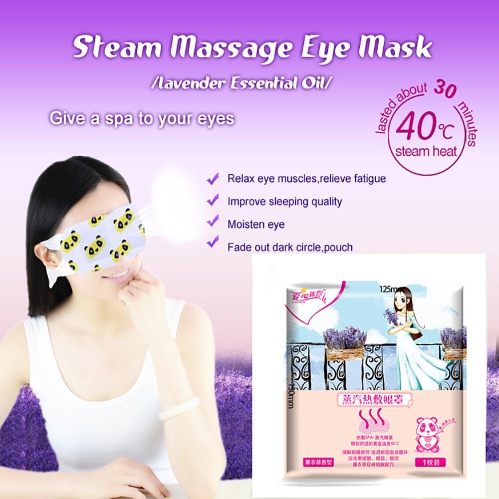 Brand Lavender Essential Oil Eye Steam Mask 12.5*13*10 CM Sleeping Vapour Mask for Reduce Dark CirclesAnti-puffiness