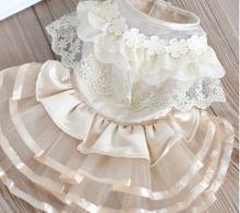 Flower Adornment Dog Dress Wedding Dresses For Dogs Pet Skirt Costume Supplies XS, S, M