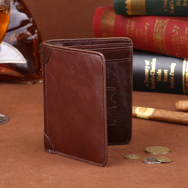 01e8e79075b38 Hot nice short men Cow leather wallets bifold fashion brand Mens choice slim  small clutch card holders designer purses Man gift-in Wallets from Luggage  ...