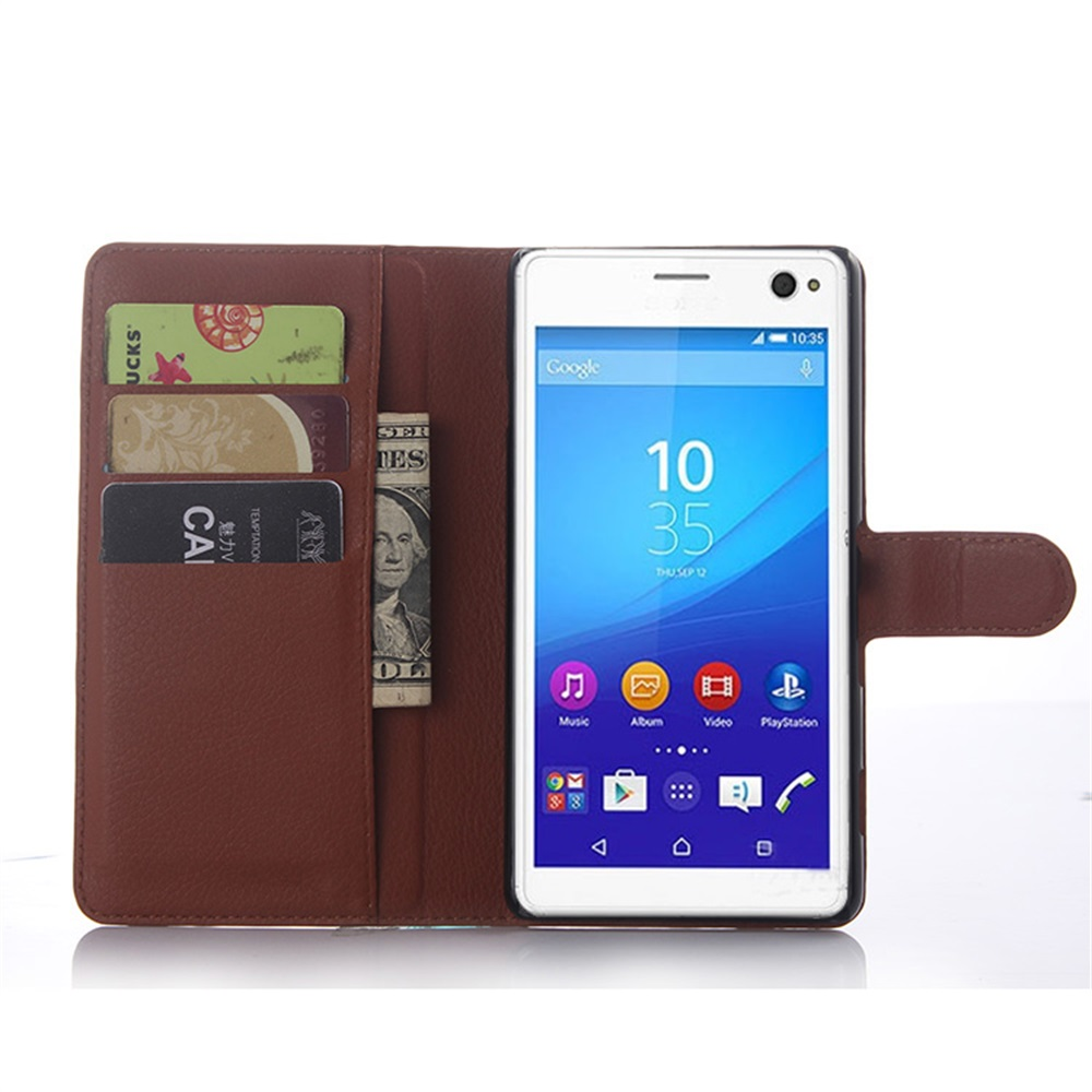 Cyboris Brand For Sony Xperia C4 Case Wallet Style With stand and Card Holder For Sony Xperia C4  Leather Cover 9 Colors