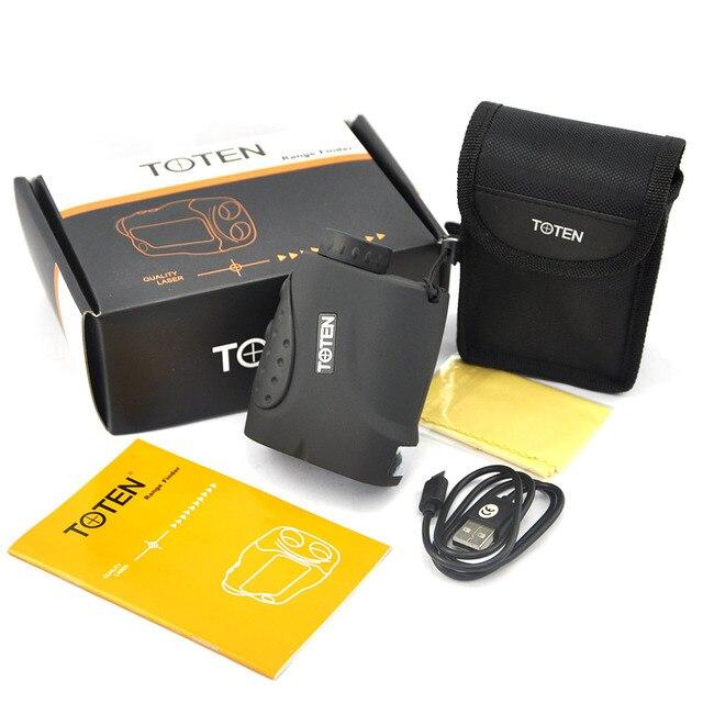 TOTEN 6x21C2 1000 Meter Laser Rangefinder USB Rechargeable lithium Battery Hunting Golf Laser Range Finder 6