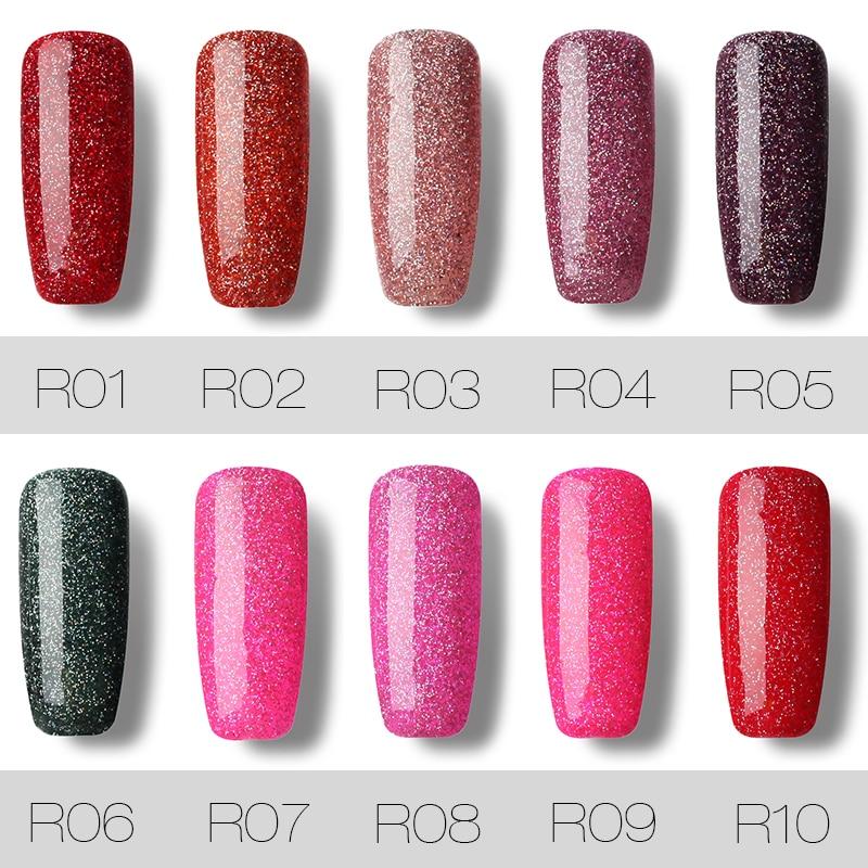 ROSALIND Gel 1S Fashion Neon Nail Gel Polish Soak Off UV Colorful ...