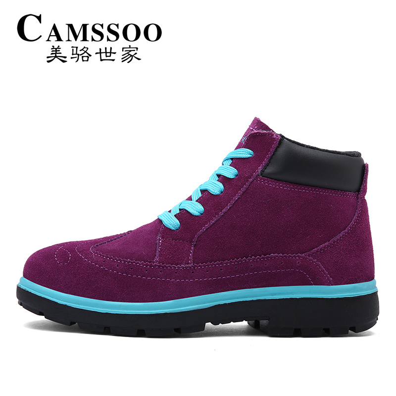 ФОТО CAMSSOO Women's Winter Outdoor Walking Trekking Boots Shoes For Women Fur Leather Warm Outdoor Sneakers Shoes Woman EUR 36-40 #
