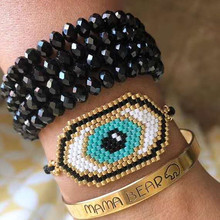 Go2boho MIYUKI Bracelet Evil Eye Bracelets Pulseras Mujer Moda 2019 For Women Jewelry Beadwork Handmade Gift