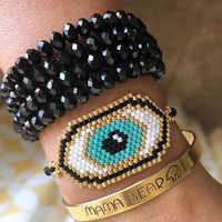 Go2boho MIYUKI pulsera mal de ojo Pulseras pulsas Mujer Moda 2019 Pulseras para mujeres mal de ojo joyería Beadwork regalo hecho a mano