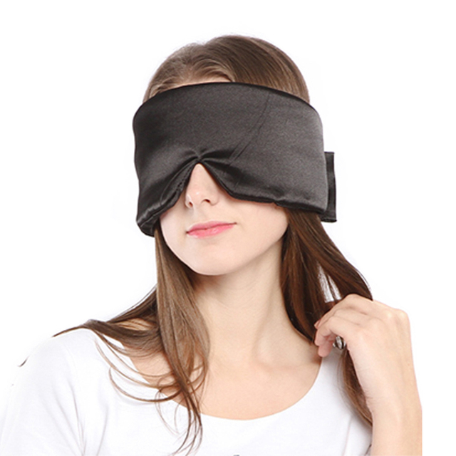 100% Pure Silk Sleep Mask Shading EyeShade Sleeping Eye Mask Cover Eyepatch Blindfolds Eyeshade Natural Sleep Shield Light