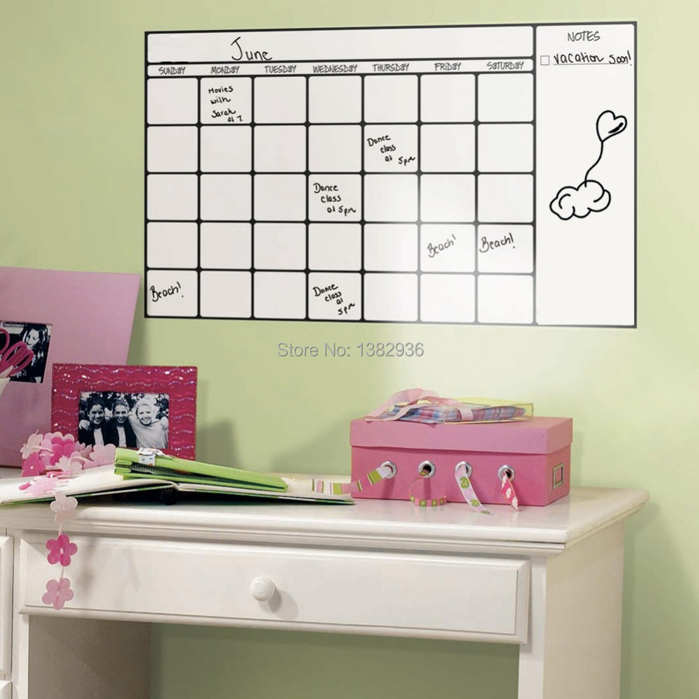 Removable wall sticker magic whiteboard office study - Removable wall stickers living room ...